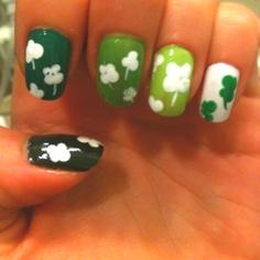 . Saint Patty's day nails.