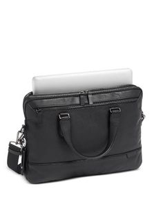 Tumi Harrison Sycamore Slim Briefcase Briefcase For Men, Leather Briefcase, Tumi, Leather Men, Shoulder Strap, Briefcases, Messenger Bags, Black, Products