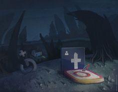 Social tombstones #social #facebook #socialmedia #illustration #tombstones #google+ #instagram #socialicons #icons