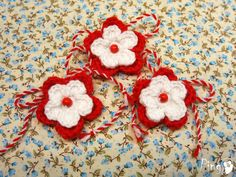 Baba Marta, Beginner Crochet Projects, Elegant Nails, Evil Spirits, Rakhi, Lucky Charm, Diy Jewelry, Elsa, Red And White