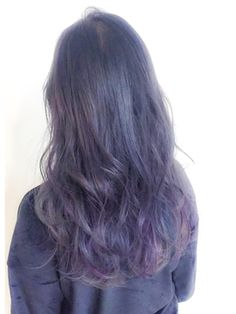 フェブヘアショップ(fev hair shop)【fev_Ryo】ネイビーグレー×カラーハイライト
