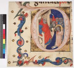 Free Library of Philadelphia, Rare Book Department,  Lewis E M 045:06-10, front 45:8  Initial D with the Martyrdom of St. Lucy of Syracuse