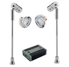 Led Battery Ed Lighting Spectrum Spotlight Kits Display Limited