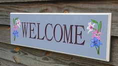 Welcome House Sign-Outdoor Beach Pool Wedding Gift Sign