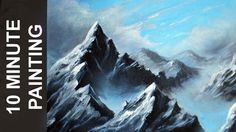 Painting a Misty Mountain Landscape with Acrylics in 10 Minutes! - YouTube