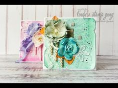 Mixed media embossed cards