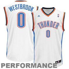 Russell Westbrook Oklahoma City Thunder adidas Replica Home Jersey - White   OklahomaCityThunder Russell Westbrook cdfb1da05