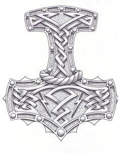 Thor Hammer Drawing Hammer of the gods by Thor Tattoo, Rune Tattoo, Norse Tattoo, Celtic Tattoos, Wiccan Tattoos, Inca Tattoo, Indian Tattoos, Maori Tattoos, Samoan Tattoo
