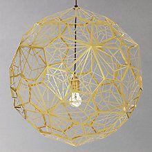 Buy Tom Dixon Etch Pendant Light, Large, Brass Online at johnlewis.com