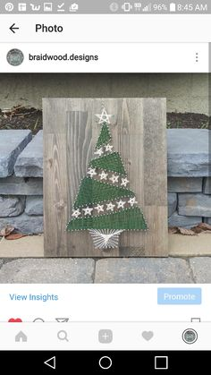 Christmas Tree String Art by @braidwood.designs on Instagram