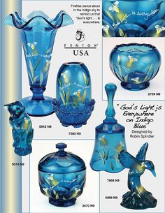 Fenton Art Glass Company Fenton Lamps, Fenton Glassware, Vintage Dishware, Vintage Dishes, My Glass, Glass Art, Viking Glass, Glass Company, Glass Birds