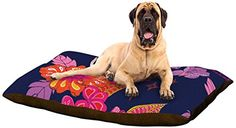 """Kess InHouse Anneline Sophia """"Tropical Paradise"""" Purple Floral Dog Bed, 50 by 60-Inch Kess InHouse http://www.amazon.com/dp/B00N3N3U8K/ref=cm_sw_r_pi_dp_ytEjub0VMC6AN"""