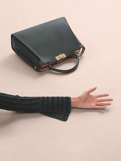The Fendi Peekaboo Essential available in select Fendi boutiques. Ph: L'Officiel Italia