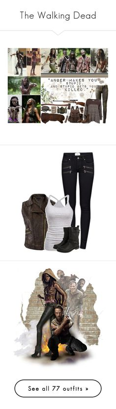 """""""The Walking Dead"""" by batgirl-at-the-disco3 ❤ liked on Polyvore featuring Balmain, RVCA, Frye, Liebeskind, RIFLE, Pier 1 Imports, Paige Denim, American Eagle Outfitters, rag & bone and art"""