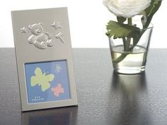 Silver Photo Frame w/ Teddy Bear i want this party favor