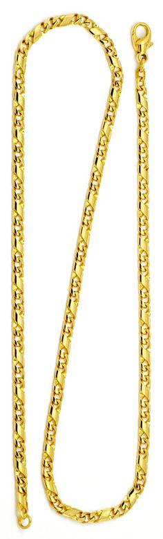 Foto 3, Dollar Kette Gold-Kette massiv Gelb-Gold 14K/585 Luxus!, K2174