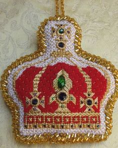 Needlepoint Stitches, Needlepoint Patterns, Needlepoint Canvases, Needlework, Christmas Embroidery, Diy Embroidery, Cross Stitch Embroidery, Diy Christmas Ornaments, Christmas Cross