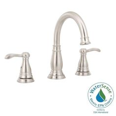 (1) Delta Porter 8 in. Widespread 2-Handle Bathroom Faucet with Metal Drain Assembly in Brushed Nickel-35984LF-BN-ECO - The Home Depot
