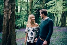 A beautiful Surrey engagement shoot amongst the bluebells in Reigate's Priory Park. Pre Wedding Shoot Ideas, Surrey, Engagement Shoots, Affair, Classy, Photoshoot, Weddings, Couple Photos, Couples
