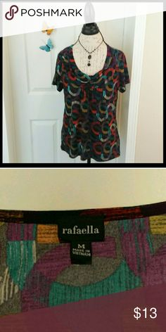 Rafaella multicolored cowl neck blouse In perfect condition. Very soft and stretchy material. Great to wear anytime. From a smoke and pet free home. I ship fast!  *Bundle and save 10%  *No trades  *All offers considered Rafaella Tops Blouses