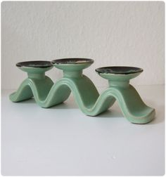Ceramic Candlestick West Germany by ZeitepochenShop on Etsy