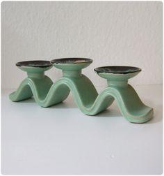 Ceramic Candlestick West Germany by ZeitepochenShop on Etsy