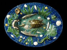 Dish  Vaugirard, France, Georges Pull  Lead-glazed earthenware, moulded, ca. 1869  London, V, 1782-1869