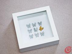 Idee fai da te :: Il quadro con le farfalle fai da te