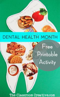 free printable dental health month graphic organizers from theclassroomcreative.com