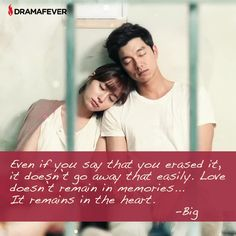50 K-drama quotes about true love. Does this finally explain the use of amnesia as a plot device?