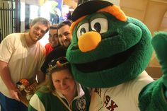 Yes, mascots can take selfies.