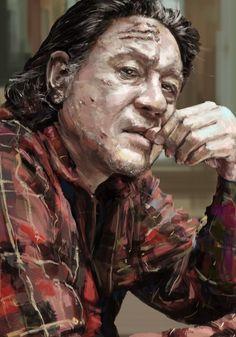 CHOI MIN SIK portrait painting on Behance