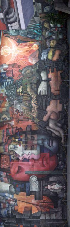 """""""Presencia de América Latina"""", por Jorge González Camarena, """"La Pinacoteca"""", Chile, 1964."""