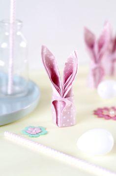 DIY : rabbit paper napkin