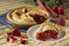 Rhubarb Desserts, Strawberry Rhubarb Pie, Rhubarb Recipes, Pie Recipes, Gourmet Recipes, Keto Desserts, Holiday Pies, Holiday Recipes, Holiday Meals