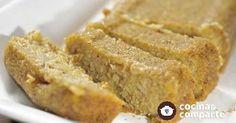 Pan de avena naranja y plátano sin gluten hecha por María De Jesús Meléndez. Un sabroso pan ideal para celiacos y personas con intolerancia al gluten. Es además una receta vegana.