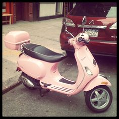 I always wanted a pink vespa in high school, no idea where the idea originally came from
