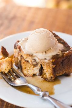 With a base of panettone, this caramelized bread pudding is a great way to use the fruit-studded Italian bread