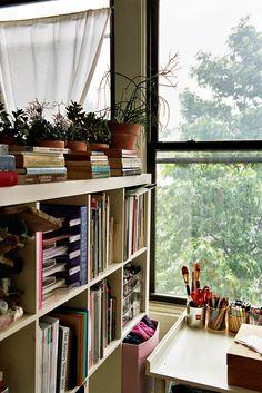 我們看到了。我們是生活@家。: 織品設計師/藝術家Isabel Wilson在紐約Williamsburg的家,也是她的工作室!