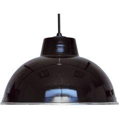 Suspension Mars BOUDET, noir, 60 watts, diam. 31 cm