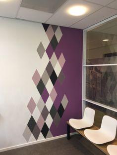 Girl Bedroom Walls, Bedroom Wall Colors, Accent Wall Bedroom, Paint Colors For Living Room, Bedroom Decor, Room Paint Designs, Bedroom Wall Designs, Wall Decor Design, Living Room Designs