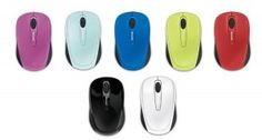 New mice from the Microsoft Hardware team in new hot colors. #mice #rainbow