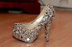 beautiful crystal heels