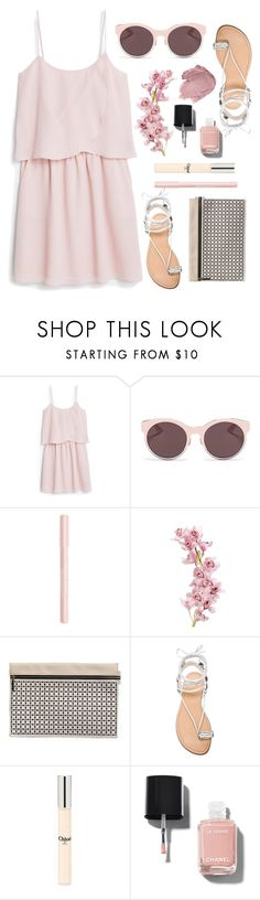 """""""Dresses..."""" by grinevagh ❤ liked on Polyvore featuring MANGO, Christian Dior, Anna Sui, Bourjois, Victoria Beckham, Stuart Weitzman, Chloé and Chanel"""