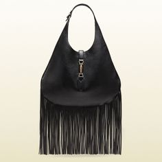 The SS 2014 Gucci Nouveau Fringe Leather Hobo
