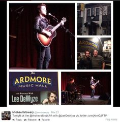 Friend and fellow Lee DeWyze fan, Michael Mowery, shares his collage from the concert at Ardmore Music Hall in Ardmore,PA via Twitter. Follo...