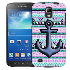 Samsung Galaxy S4 Active Anchor on Aztec Andes Mauve Teal Slim Case