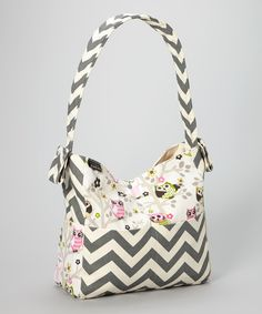 Take a look at this Brownie Gifts Creamy Owls Diaper Bag on zulily today!