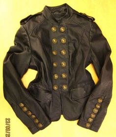 Military Jacket Leather Steampunk Victorian Casanova Dandy Tudor Shakespeare