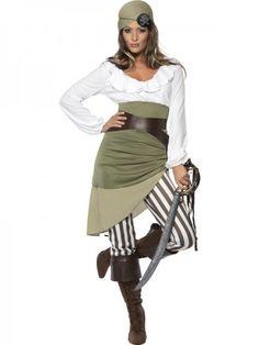 Piratinnenkostüm Piratenkostüm Freibeuter Karibik Kostüm Pirat Piratin Seeräuber Kostüm für Damen Da